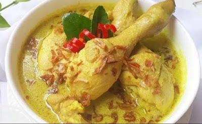 Cara Buat Opor Ayam Bumbu Kuning Maknyus