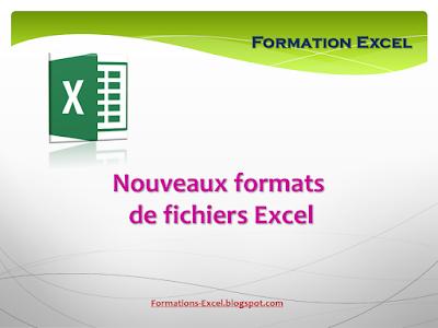Nouveaux formats de fichiers excel