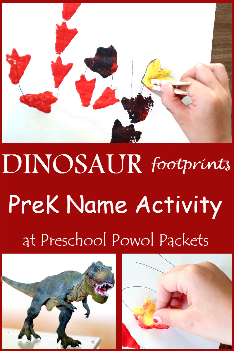 preschool dinosaur name activity preschool powol packets
