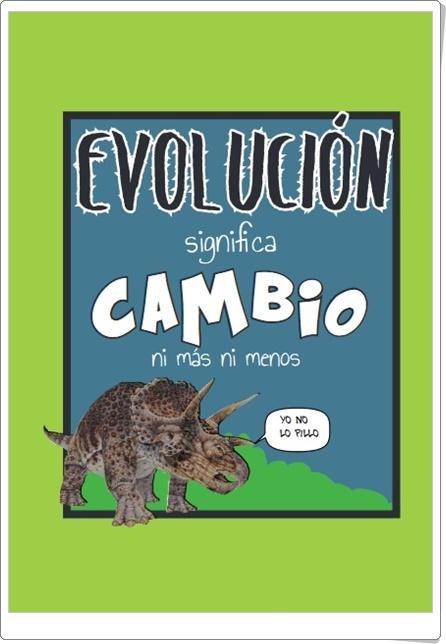 """""""Evolución siginifica cambio"""" (Cómic divulgativo de Ciencias Naturales)"""