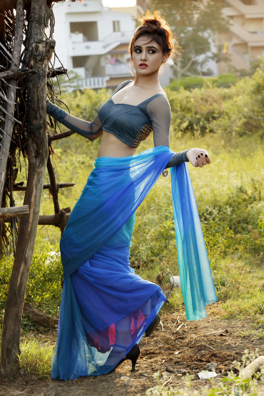 Actress Sony Charista Latest Sizzling Photoshoot In Blue -1675