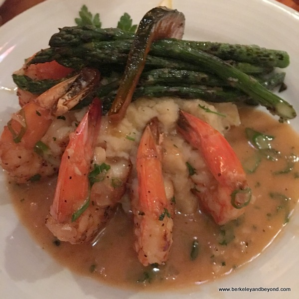 shrimp scampi at The Galley Seafood Grill & Bar in Morro Bay, California