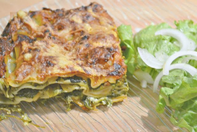 recette, recette végétarienne, lasagne, épinards, parmesan, mascarpone.