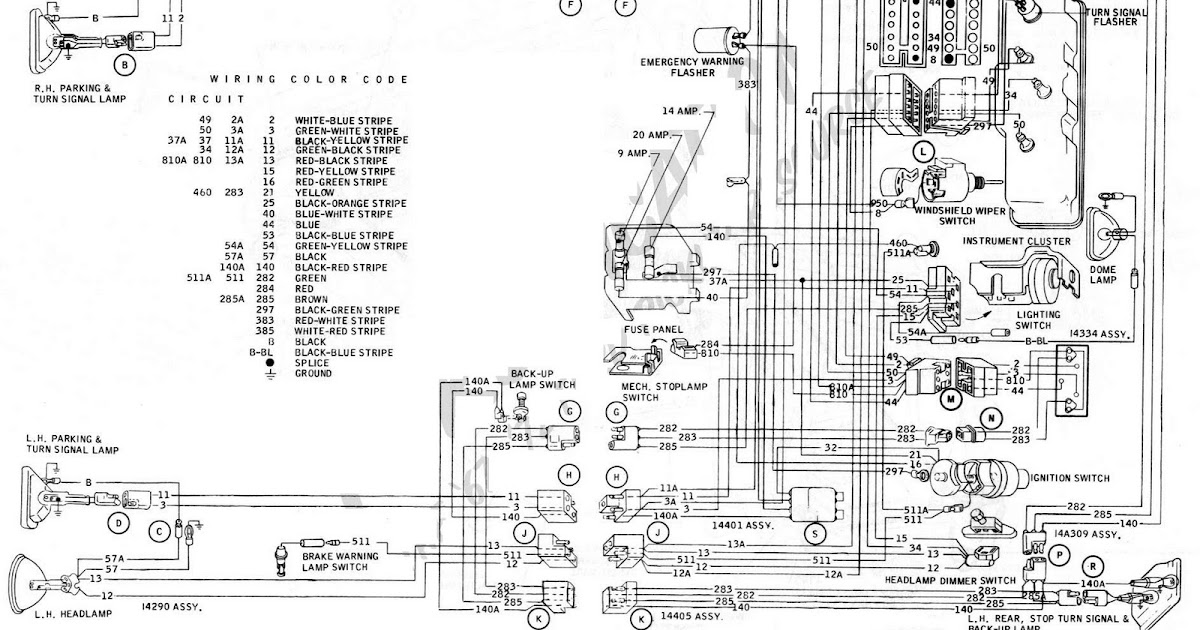 wiring diagram for brake turn signals