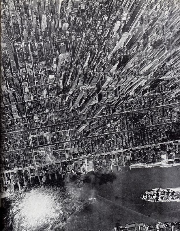 A stunning, surreal aerial photo of Manhattan in 1944 by Andreas Feininger for LIFE