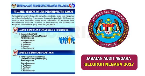 Jabatan Audit Negara Malaysia - 60 Kekosongan Seluruh Negara