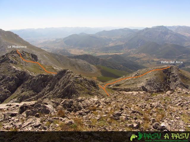 Vista de la Mojonera y Peña del Arca desde el Ranchón
