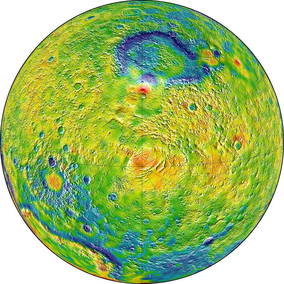 New Gravity Map of Mars