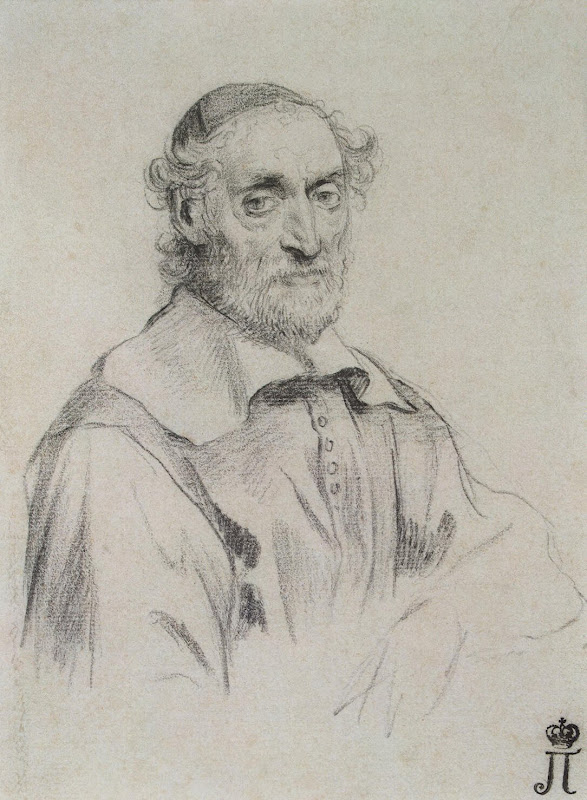 Portrait of Nicolas Fabri de Pieresc by Claude Mellan - Portrait Drawings from Hermitage Museum