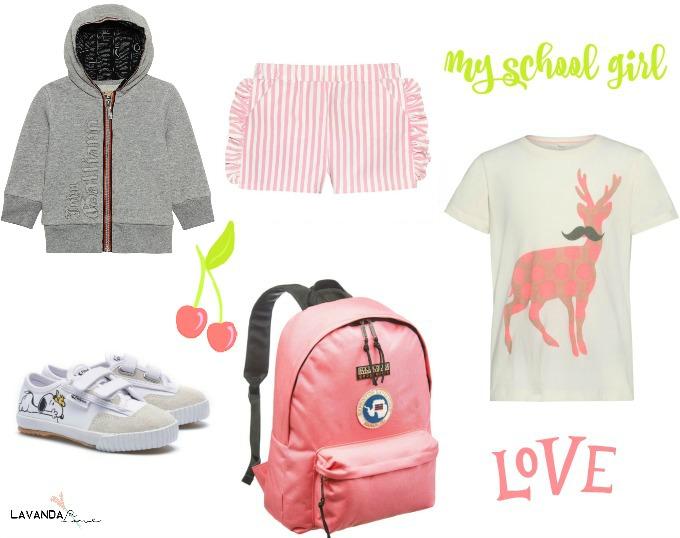 trendy conjunto gris y rosa  niña para gimnasia