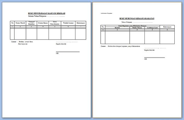 Administrasi Kepala Sekolah Format Microsoft Word