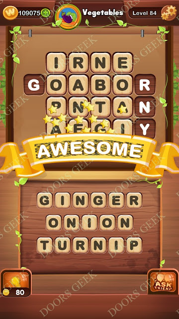 Word Bright Level 84 Answers, Cheats, Solutions, Walkthrough for android, iphone, ipad and ipod