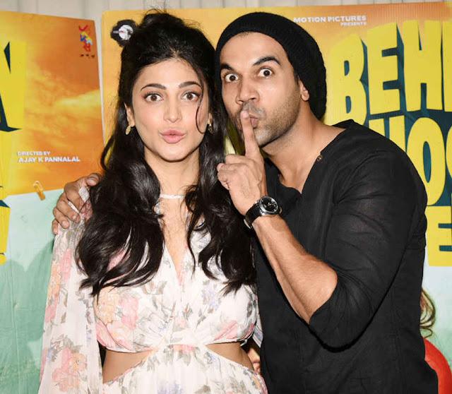 Shruti Haasan and Rajkummar Rao Promotional Interview for 'Behen Hogi Teri' at Morya Classic in Mumbai