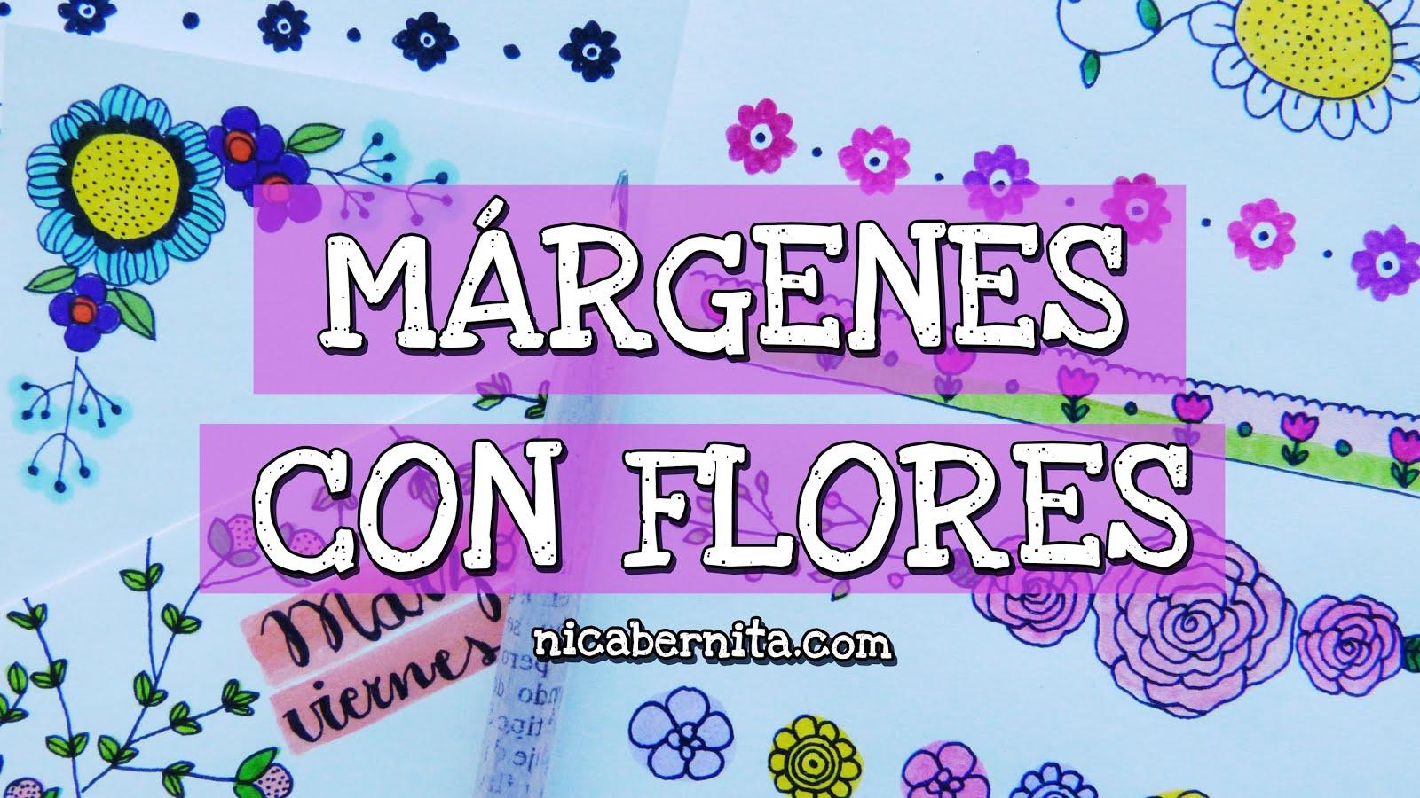 Márgenes Con Flores Márgenes Para Hojas De Cuadernos Libretas Y