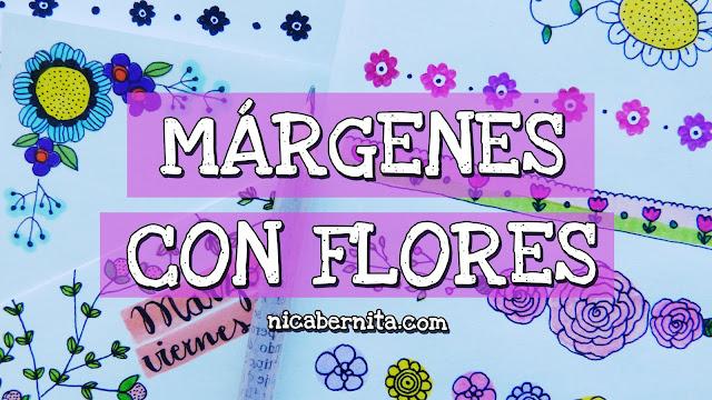 bordes, separadores y márgenes con flores (por Nica Bernita)