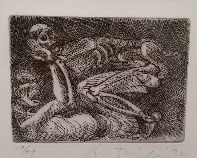 etching by Tejano artist Juan ALfonso Kimenez