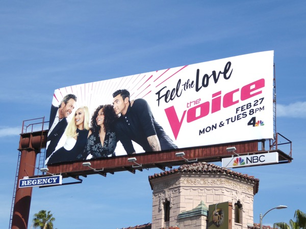 Voice season 12 Feel the love billboard