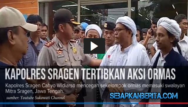 "VIDEO: Pimpinan Ormas ""Disemprot"" Polisi saat Hendak Sweeping Atribut Natal"
