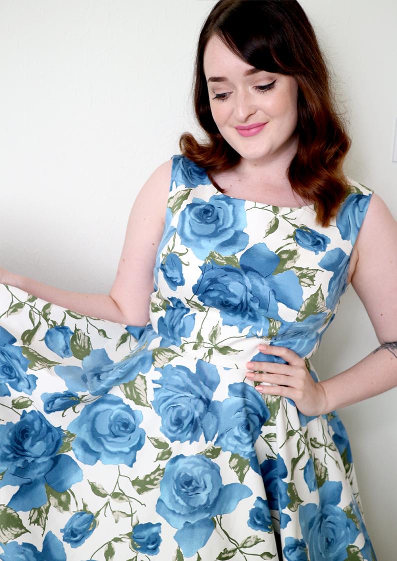 Minerva Craft Blogger Network - Retro Butterick B5748 Dress