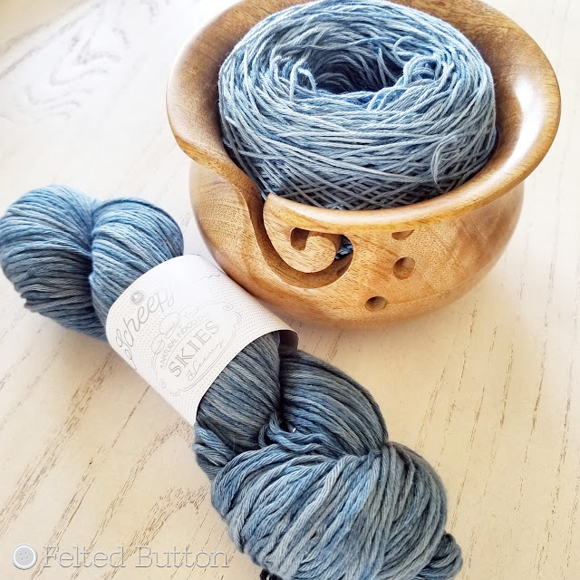 Scheepjes Skies Light and Heavy (100% cotton indigo-dyed yarn)