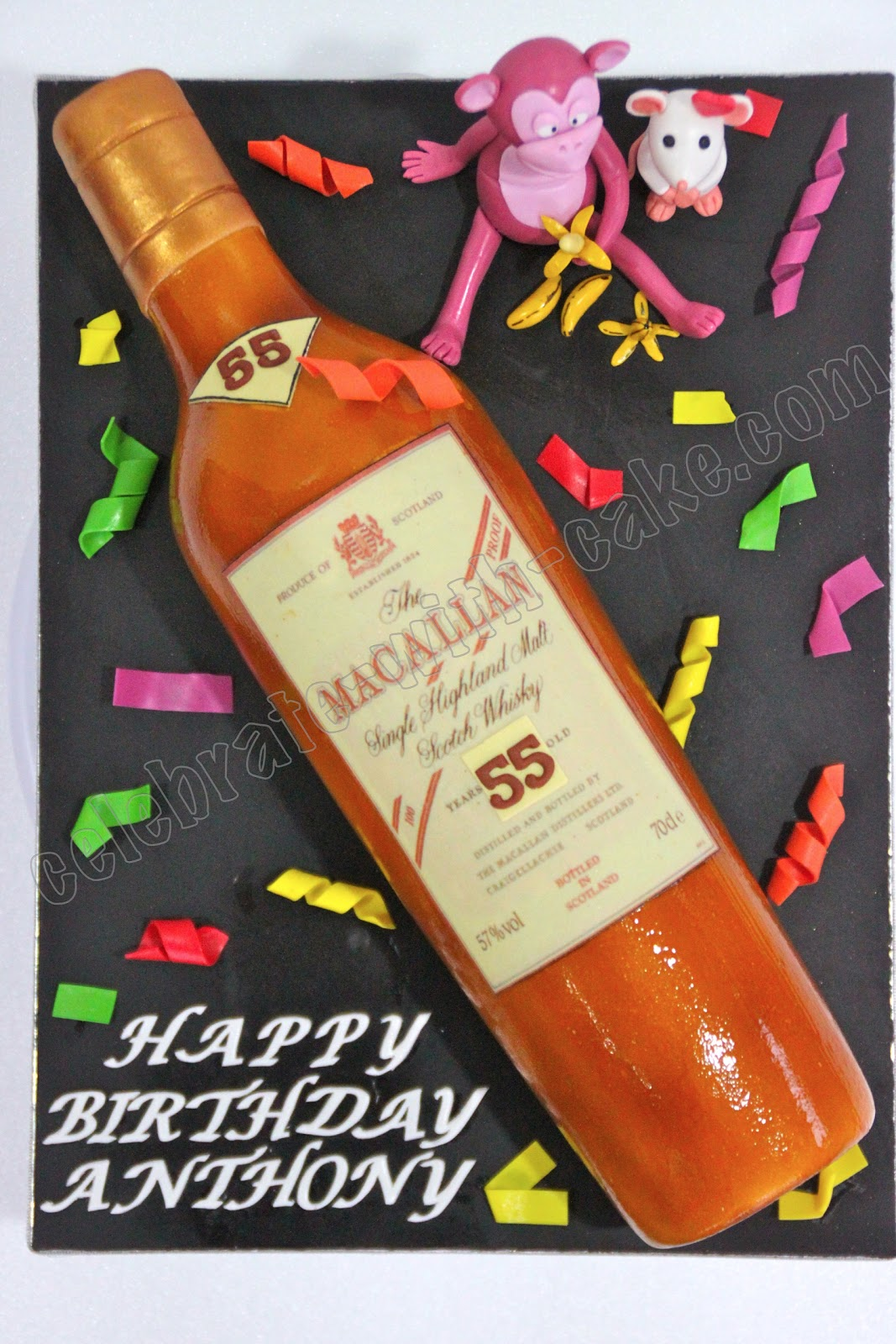 Macallan Whiskey Bottle Cake