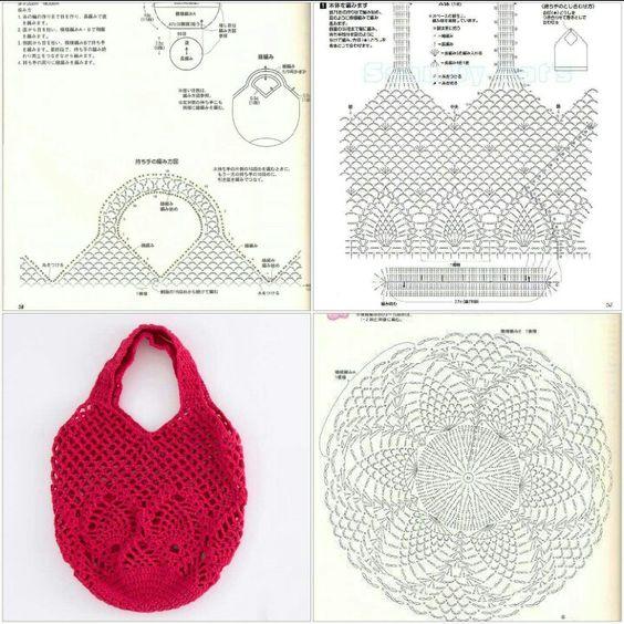 POPURRI DE IDEAS Y COSAS: Bolsas para la compra a Crochet o ...