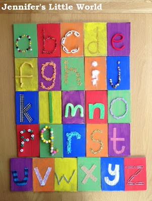 How to make tactile alphabet cards for children