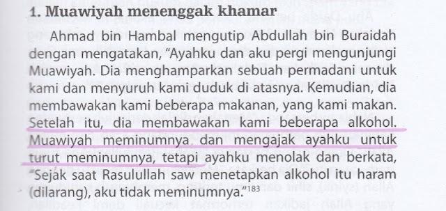 Syiah Menuduh Muawiyah Gemar Menenggak Khamar