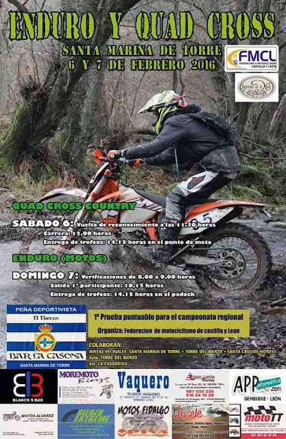 enduro y quad cross-country santa marina de torre 6 y 7 febrero 2016