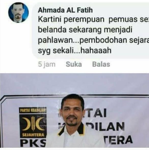 Foto Kader PKS Dicatut untuk Menjelek-jelekkan Kartini di Medsos