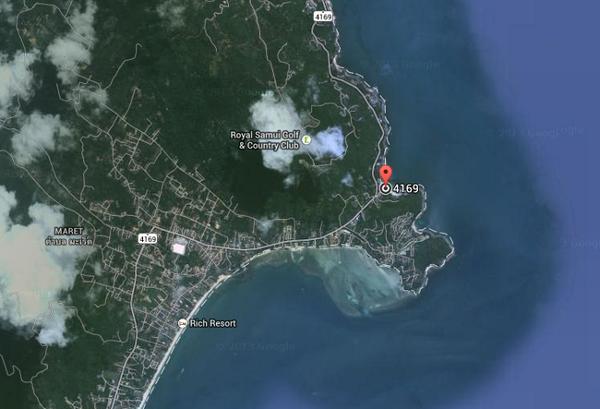 Точка на карте пляжа Сильвер Бич