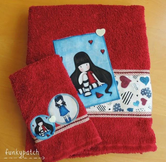 Como customizar unas toallas con telas Gorjuss
