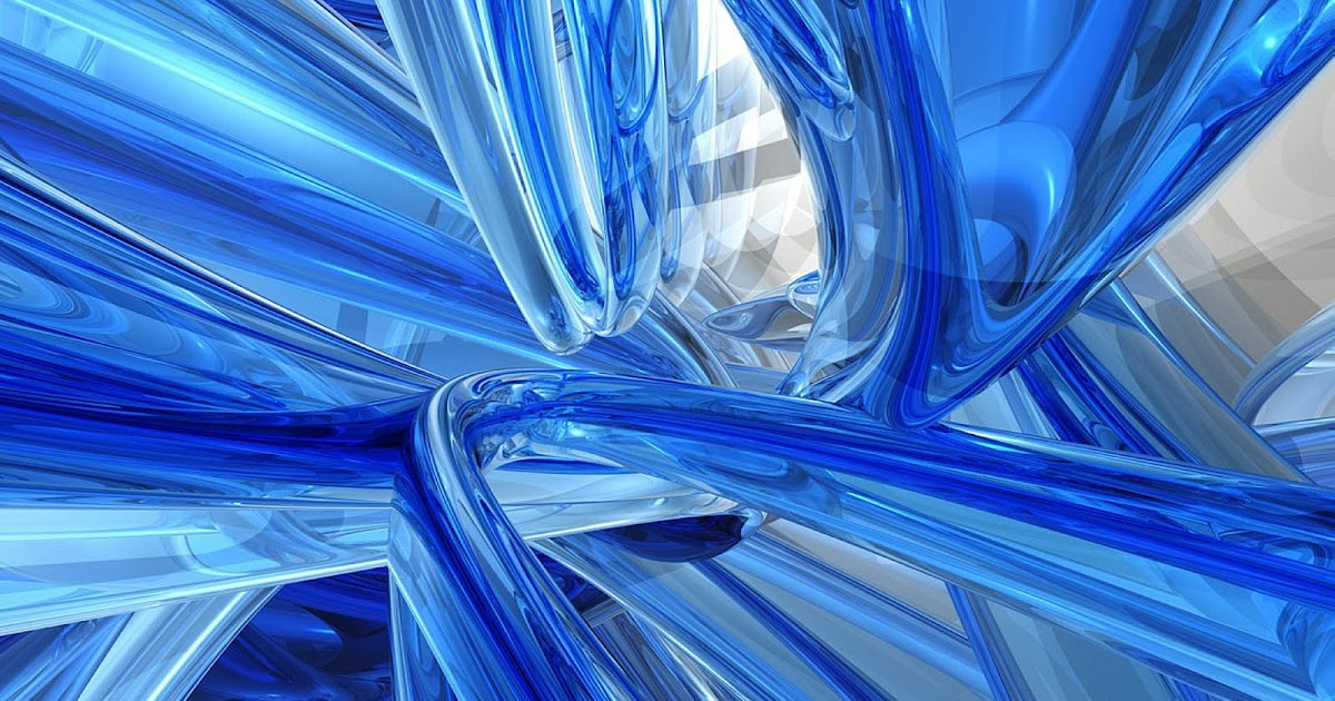 GUDANG GAMBAR Koleksi Wallpaper Biru 3D Abstrak Keren