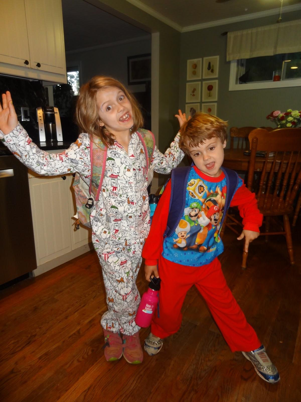 A Papa S Whimsy Pajama Day At School