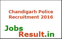Chandigarh Police Recruitment 2016