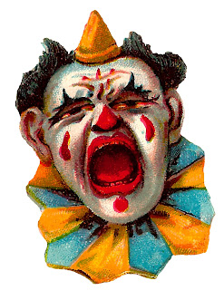 clown circus clipart funny vintage norwegian digital illustration