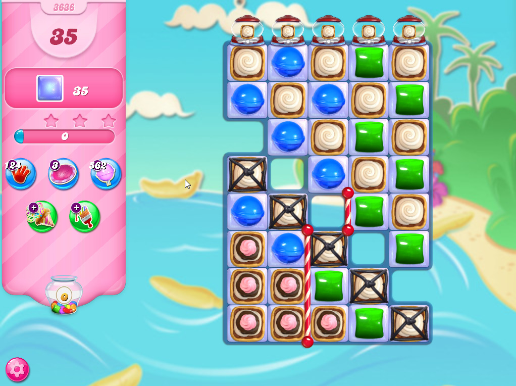 Candy Crush Saga level 3636