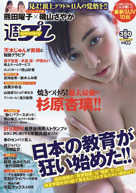Anri Sugihara 杉原杏璃 Weekly Playboy No 14 2017 Cover