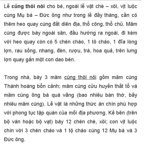 Mam Le Cung Thoi Loi