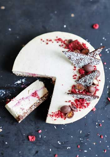 Raw Coconut & Raspberry Cheesecake