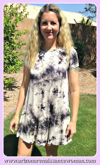 Renee C Tie Dye Swing Dress - Golden Tote Review - March 2016