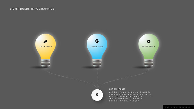 Shining Light Bulb Infographics PowerPoint Slide Type D