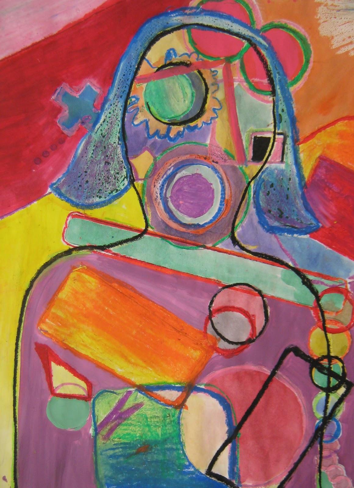 Czar Art Ed Cubist Portraits Cubist Portraits By 5th