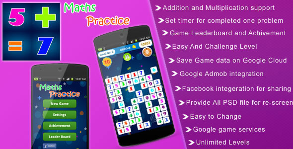 Maths Practice Mobile App