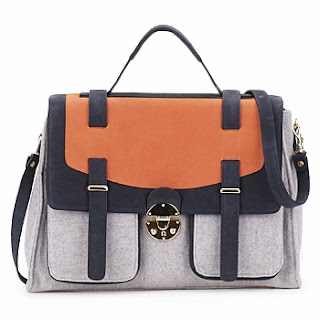 MySuelly Orange Handbag Tasche Tote Messenger