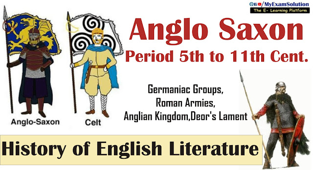 the anglo saxons, english literature, ugc net jrf, notes, english literature notes,