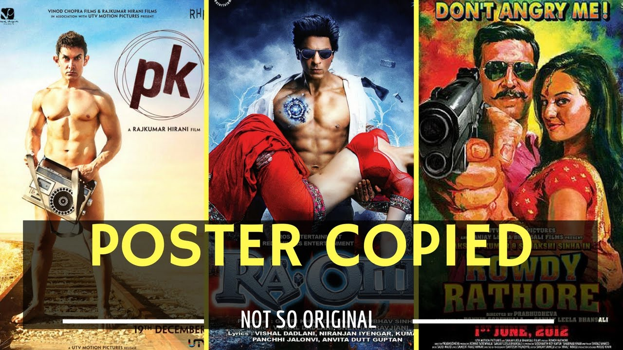 Bollywood Movie Posters Copied from Hollywood