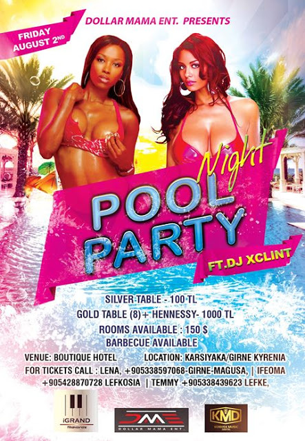 "Dollar Mama Entertainment presents ""Night Pool Party""."
