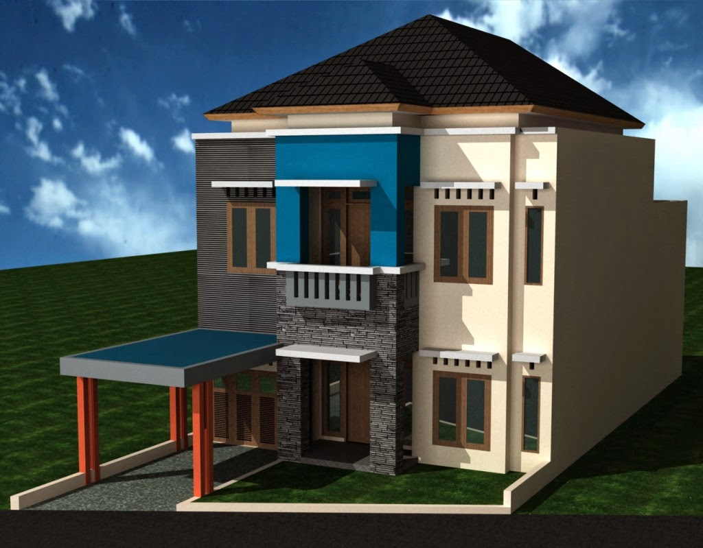Gambar Desain Rumah Tingkat Minimalis 2 Lantai Mewah dan ...