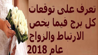 تعرف على توقعات كل برج فيما يخص الارتباط والزواج عام 2018